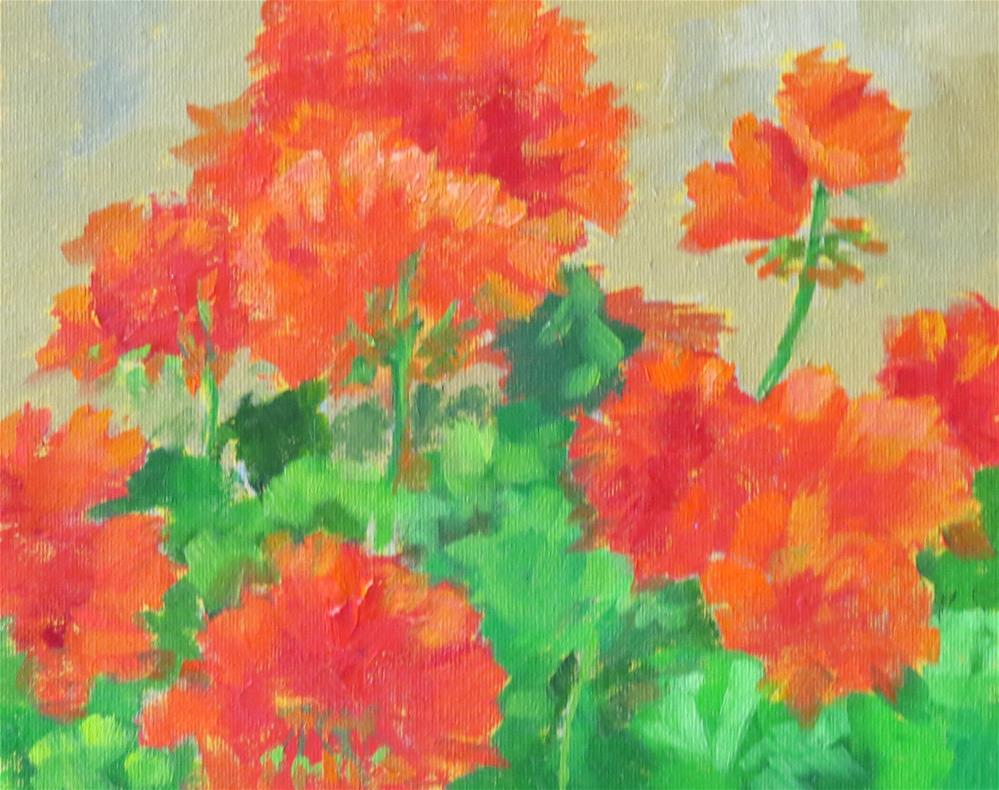 """Caliente Coral"" original fine art by Pam Holnback"