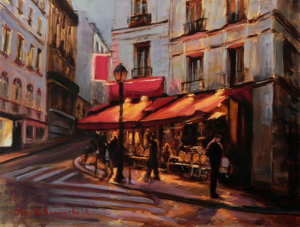 """Dusk in Montmartre III"" original fine art by Jonelle Summerfield"
