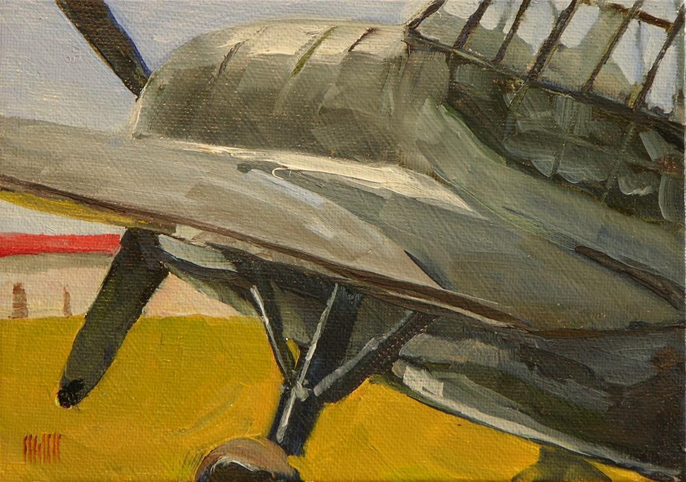 """""""Avenger Bomber"""" original fine art by Mary McInnis"""