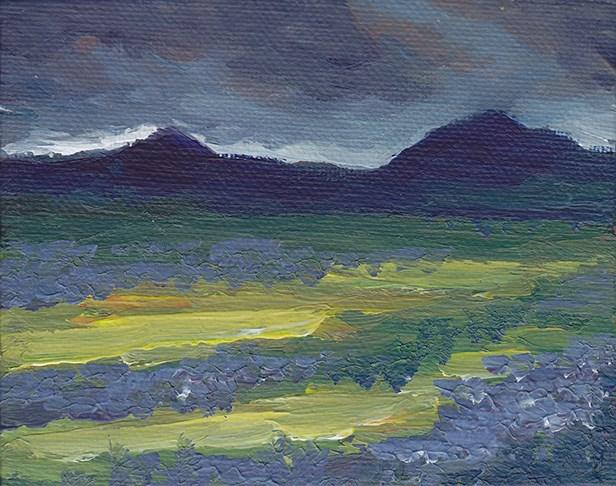 """Dramatic Dark Sky Study"" original fine art by J M Needham"