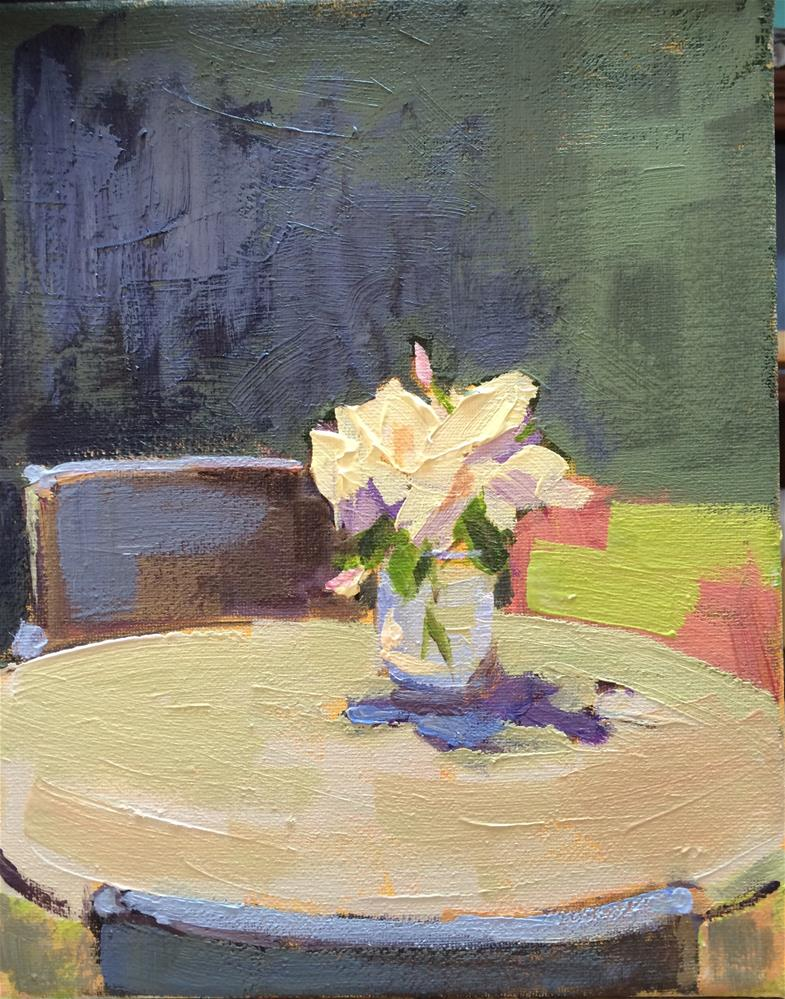"""Patio Table"" original fine art by Naomi Bautista"