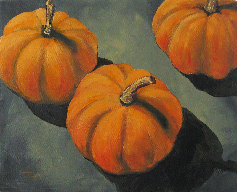 """Pumpkins and Shadows"" original fine art by Torrie Smiley"