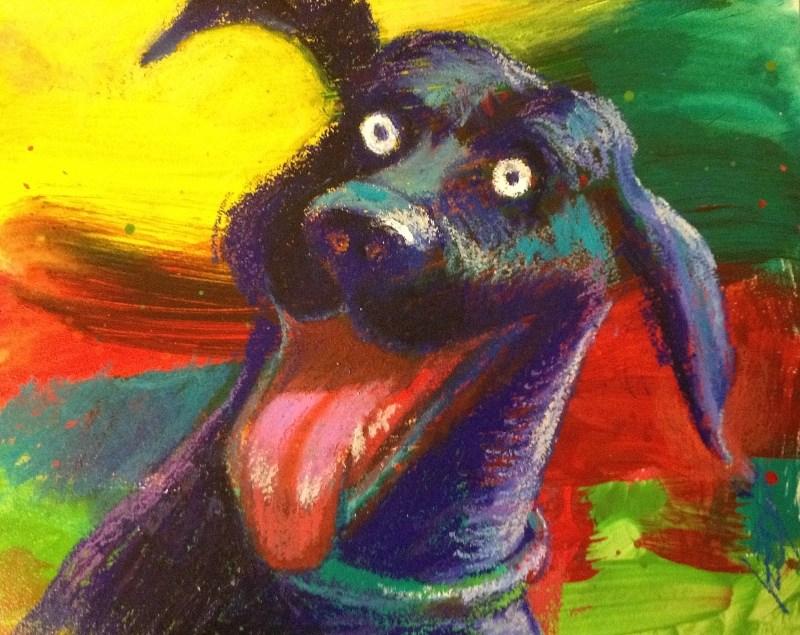"""Did You Say Walkies ???"" original fine art by Jeff Leedy"