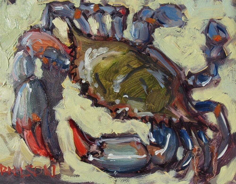 """Bluecrab"" original fine art by Rick Nilson"