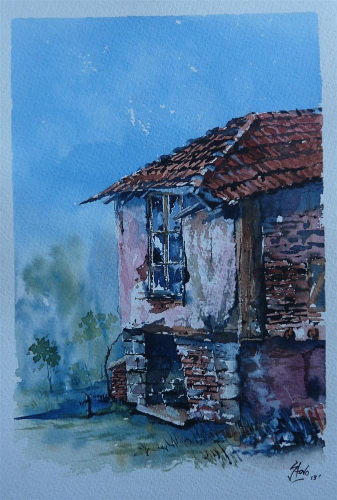 """The Old Ale House in Cherkovo"" original fine art by Martin Stephenson"