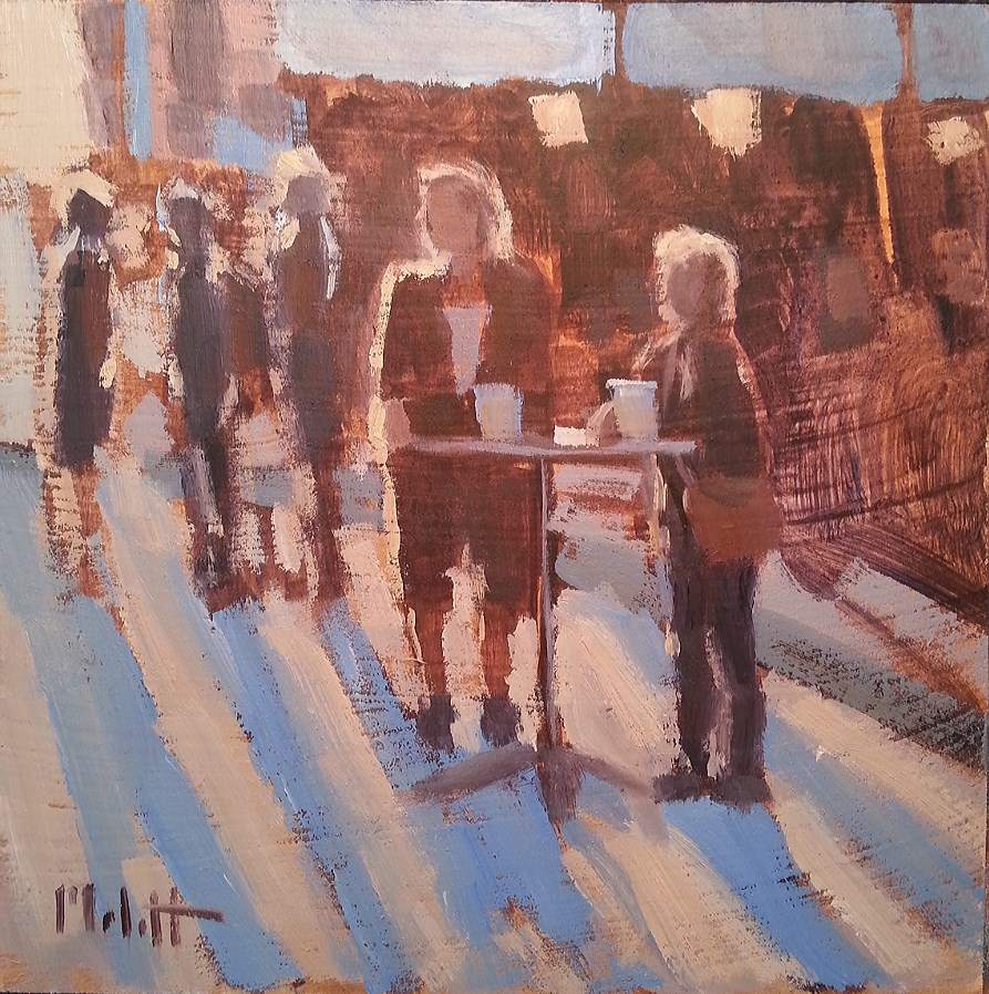 """Beer Garden End of Summer Festival Figures Original"" original fine art by Heidi Malott"
