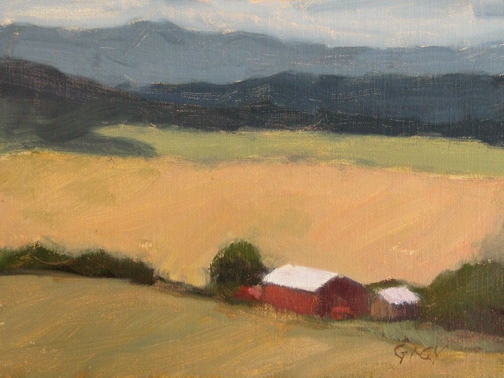 """View from Teanaway Grange"" original fine art by Naomi Gray"