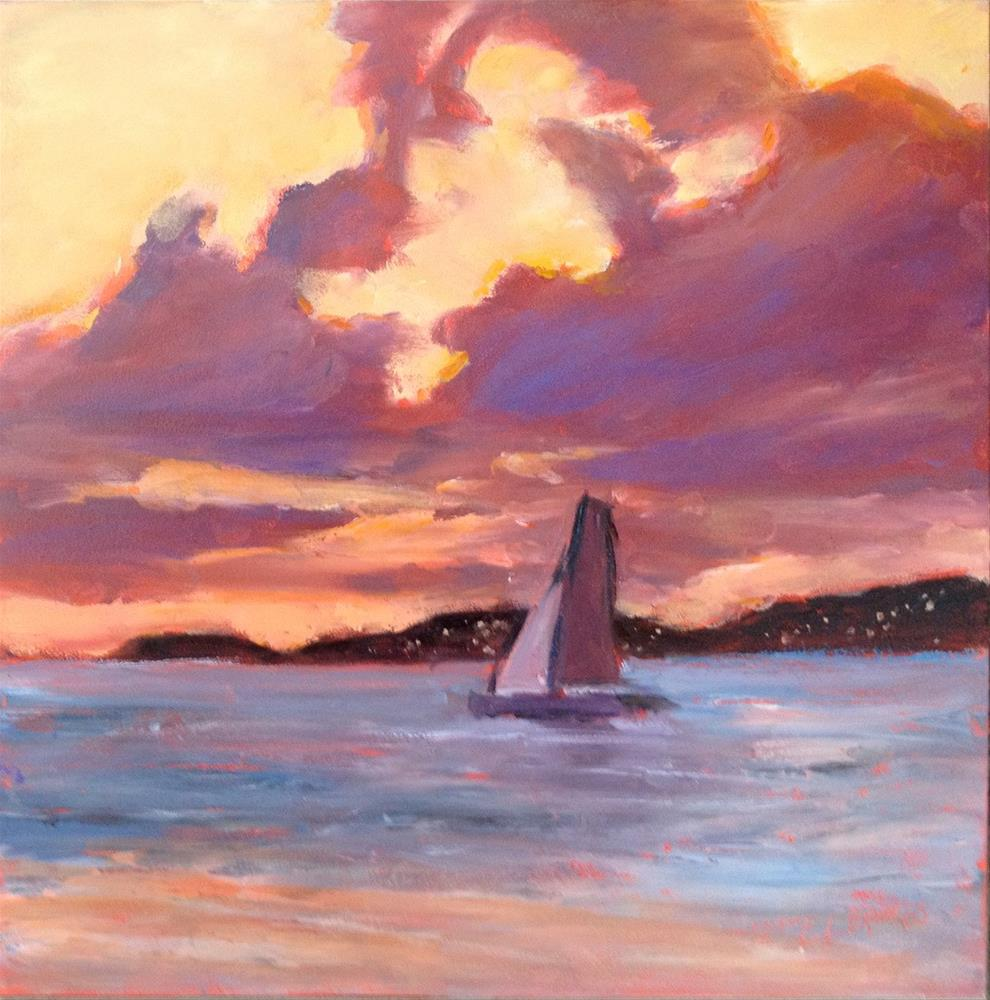 """Evening Sail"" original fine art by Claudia L Brookes"