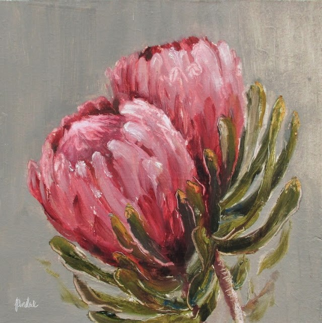 """Daily painting #720 Women's Day Protea"" original fine art by Heidi Shedlock"