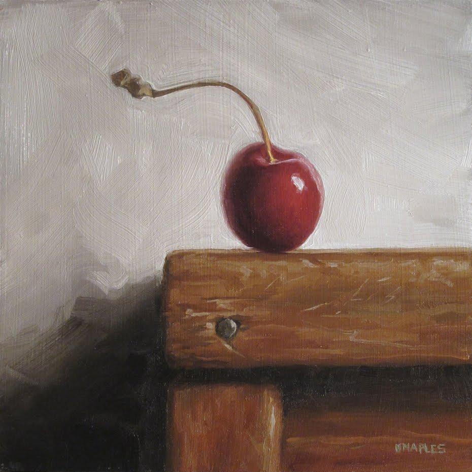 """Peeking Over the Edge"" original fine art by Michael Naples"