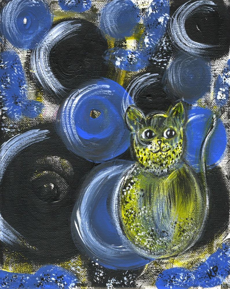 """Hairy Cat"" original fine art by Kali Parsons"