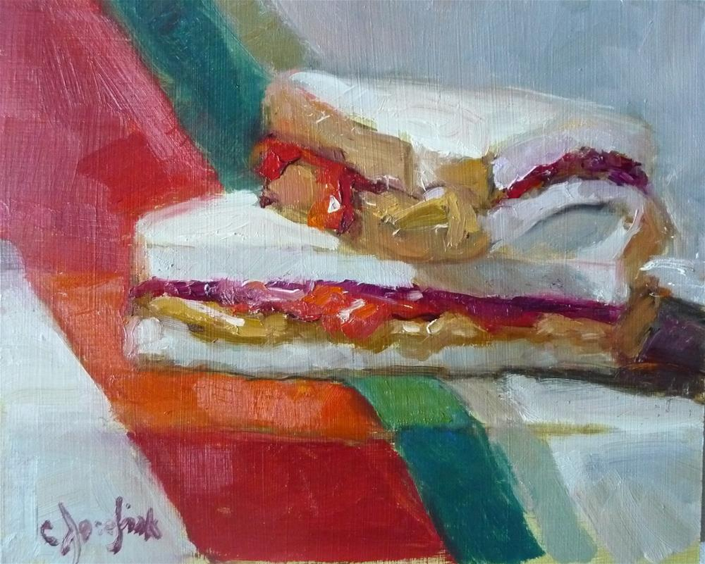 """PB & J - #2"" original fine art by Carol Josefiak"