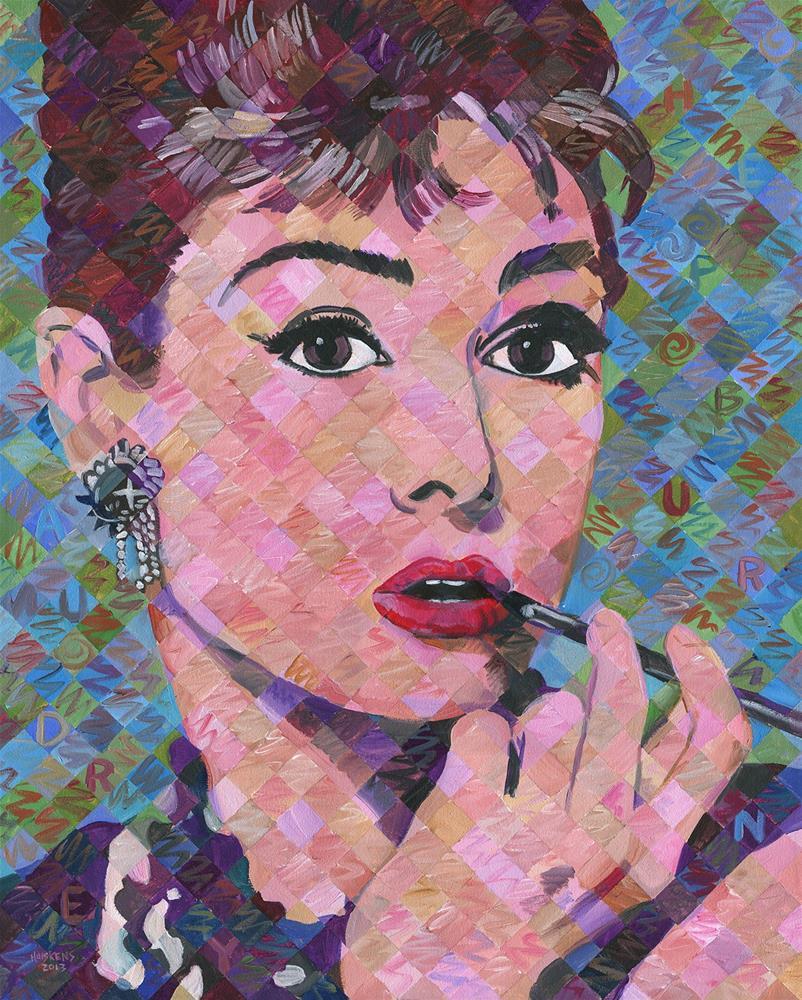 """Audrey Hepburn #6"" original fine art by Randal Huiskens"