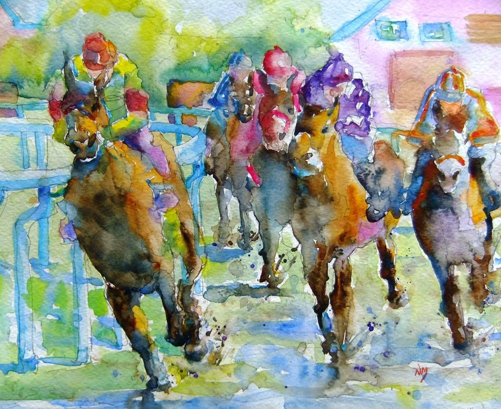 """""""back on track"""" original fine art by Nora MacPhail"""