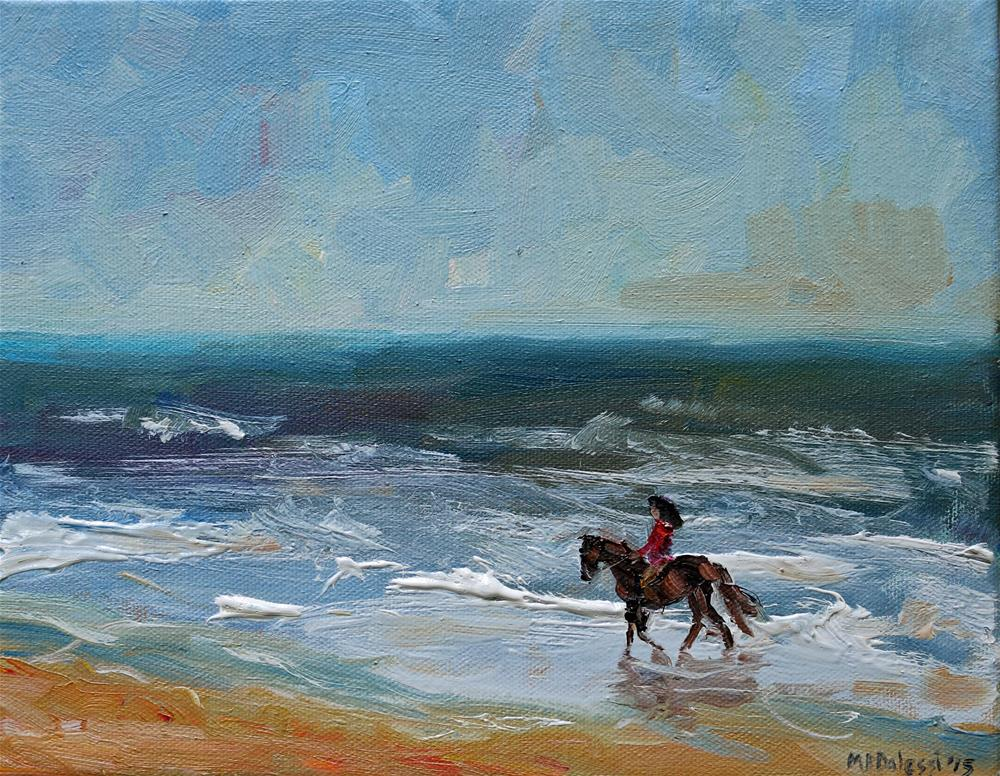 """Beach ride"" original fine art by Miranda Dalessi"
