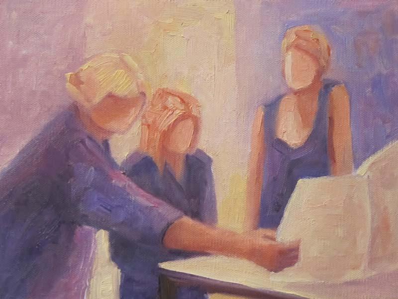 """""""Art Class"""" original fine art by Steinunn Einarsdottir"""