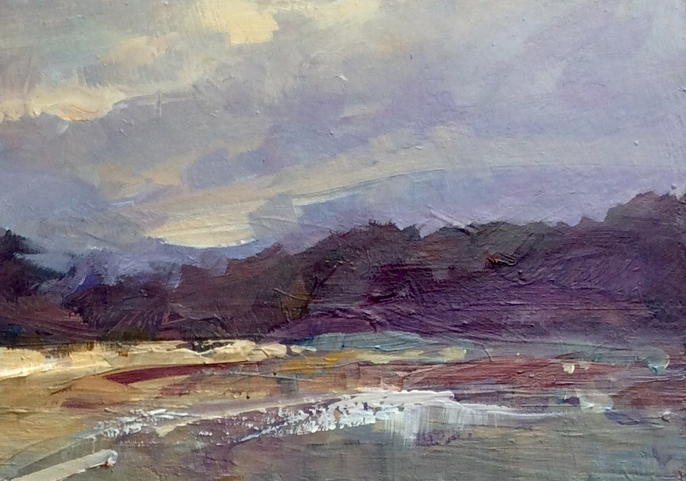 """""""Secluded Bay"""" original fine art by Anne Wood"""