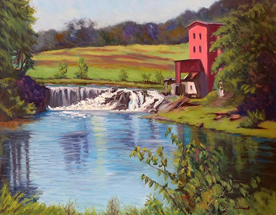 """""""Dillard Mill"""" original fine art by Daniel Fishback"""