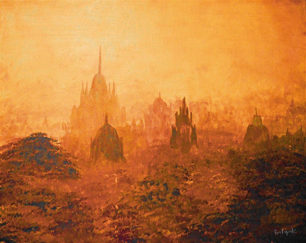 """Burma Temples"" original fine art by Ken Figurski"
