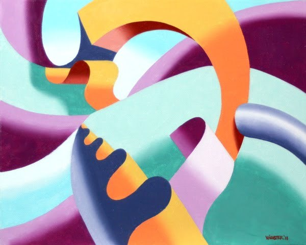 """Mark Webster - The Modern Landscape 2.0 Abstract Geometric Oil Painting"" original fine art by Mark Webster"