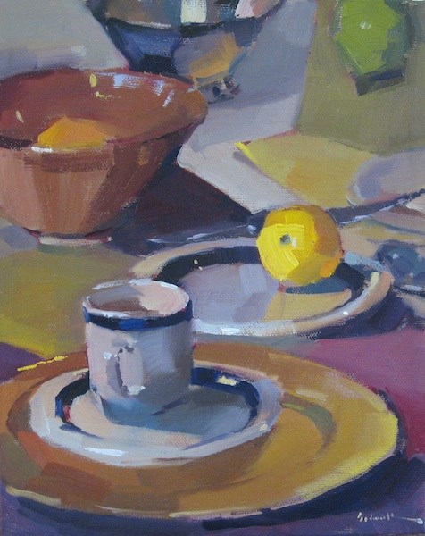 """A Landscape on the Table"" original fine art by Sarah Sedwick"