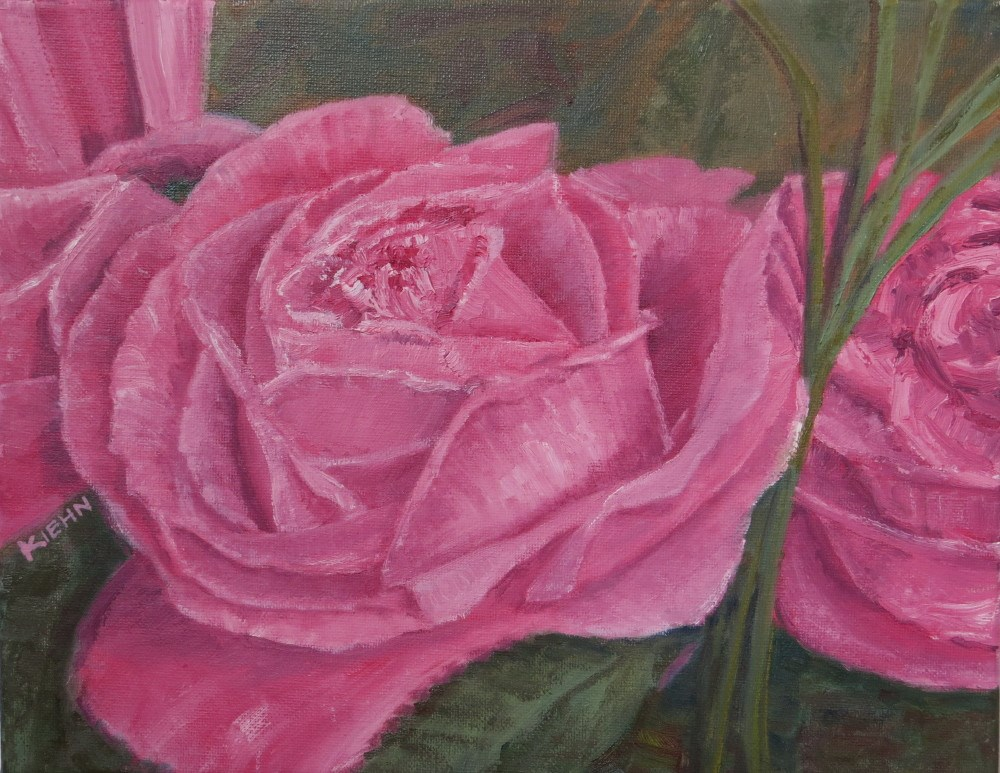 """Birthday Roses"" original fine art by Richard Kiehn"