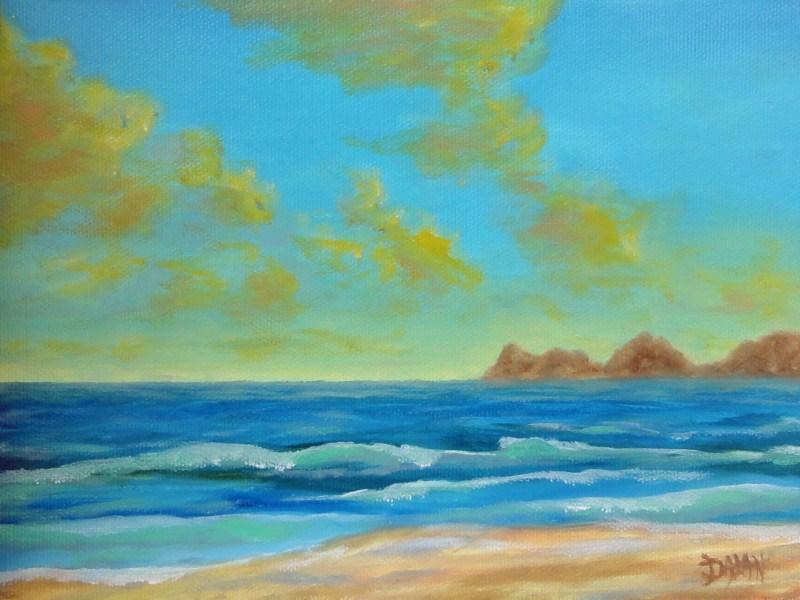 """""""Sunset Islands"""" original fine art by Dalan Wells"""