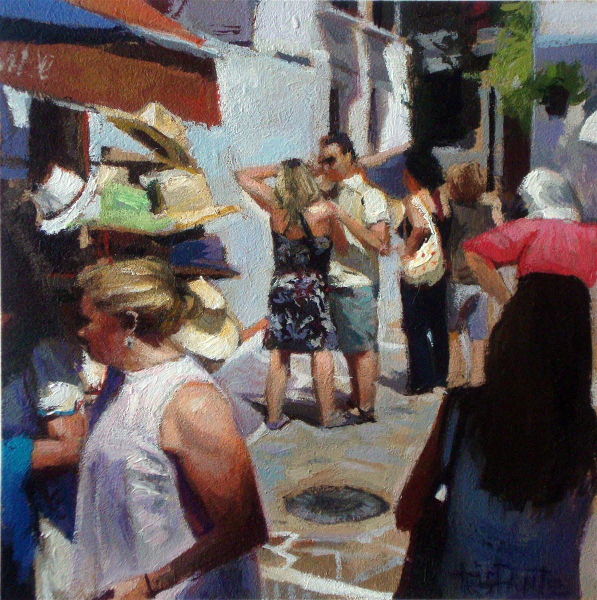 """Tourists"" original fine art by Víctor Tristante"