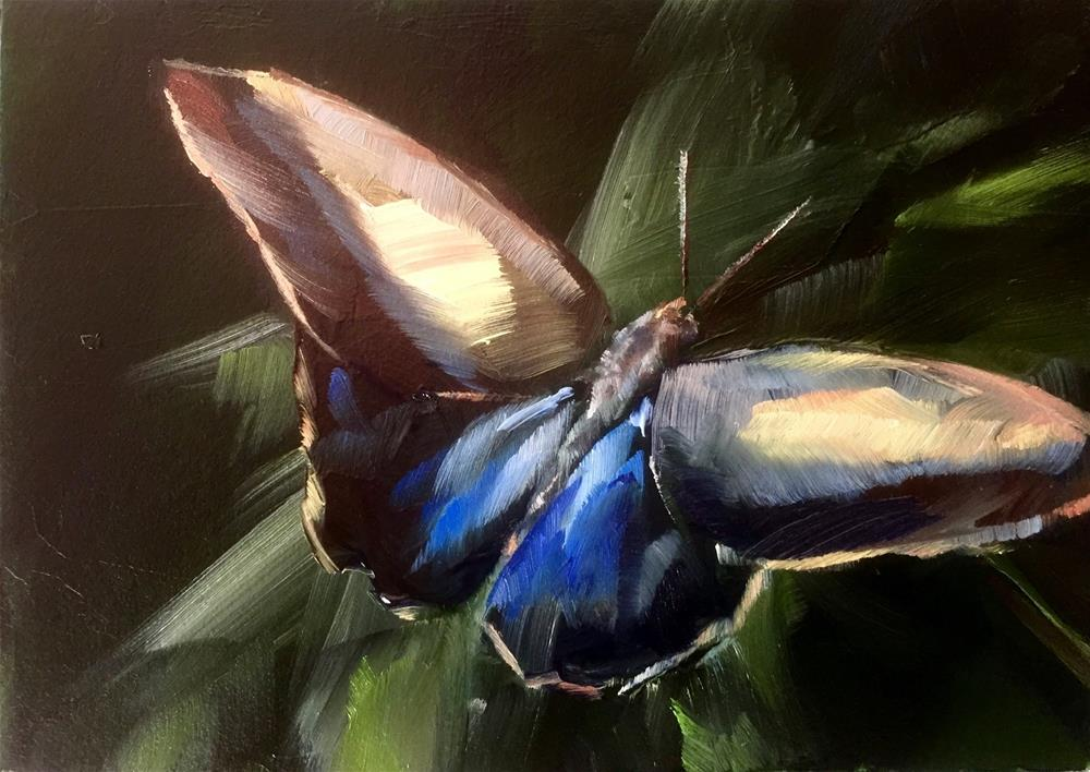 """Exotic Butterfly"" original fine art by Gary Bruton"