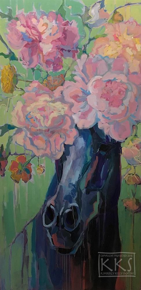 """Dixie Rose"" original fine art by Kimberly Santini"