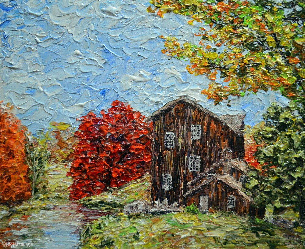 """Old Mill By Cass River"" original fine art by Gloria Ester"