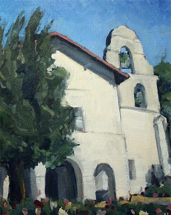 """The Mission"" original fine art by J. Farnsworth"