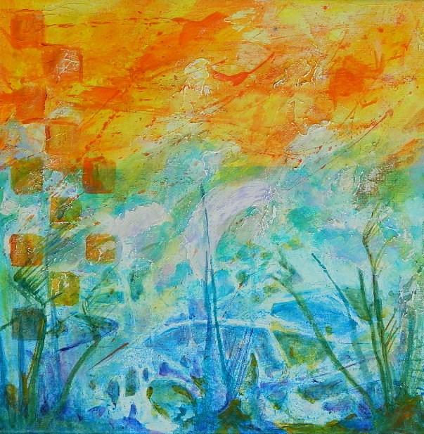 """Frottage #4"" original fine art by Gloria Urban"