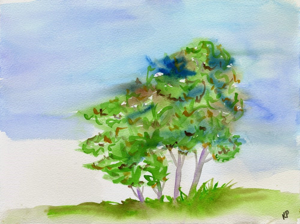 """Save a Tree"" original fine art by Kali Parsons"