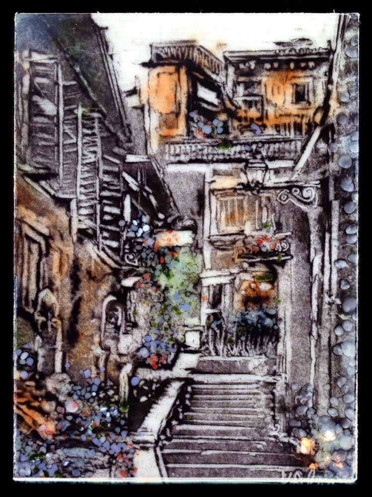 """Round the Corner"" original fine art by Kelly Alge"