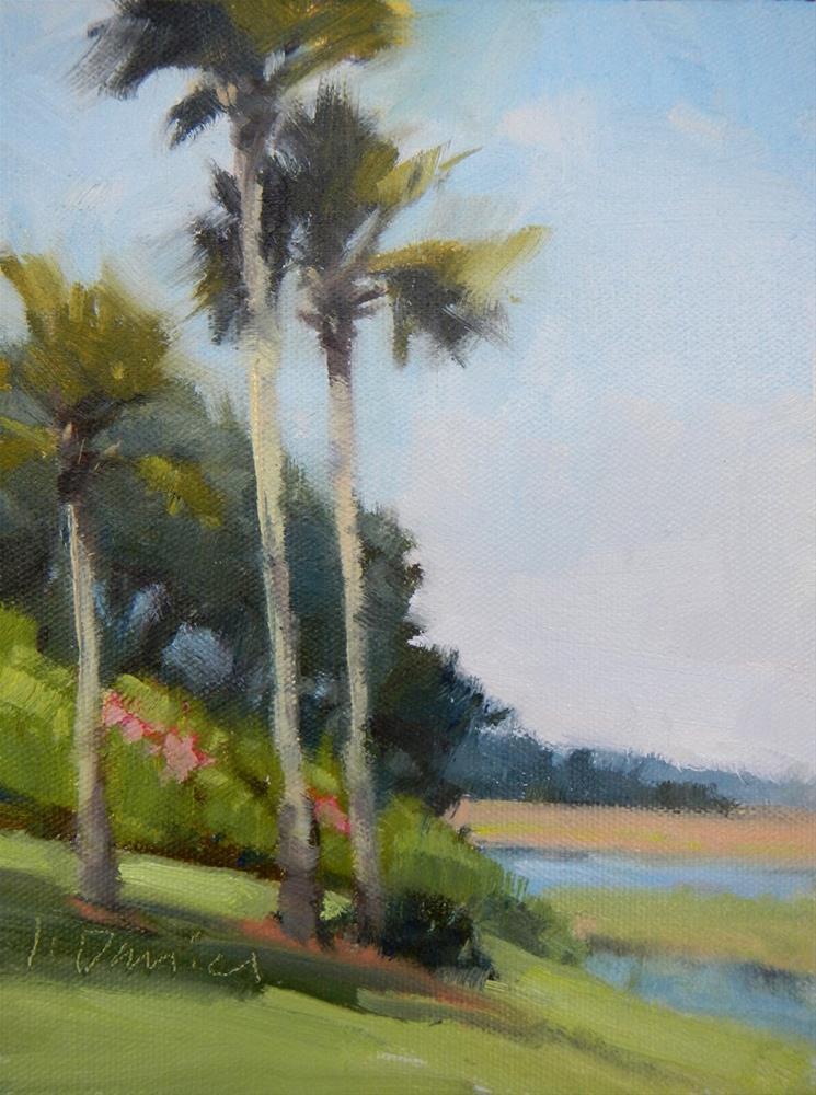 """Marshside Palms Demo - Georgia Workshop"" original fine art by Laurel Daniel"