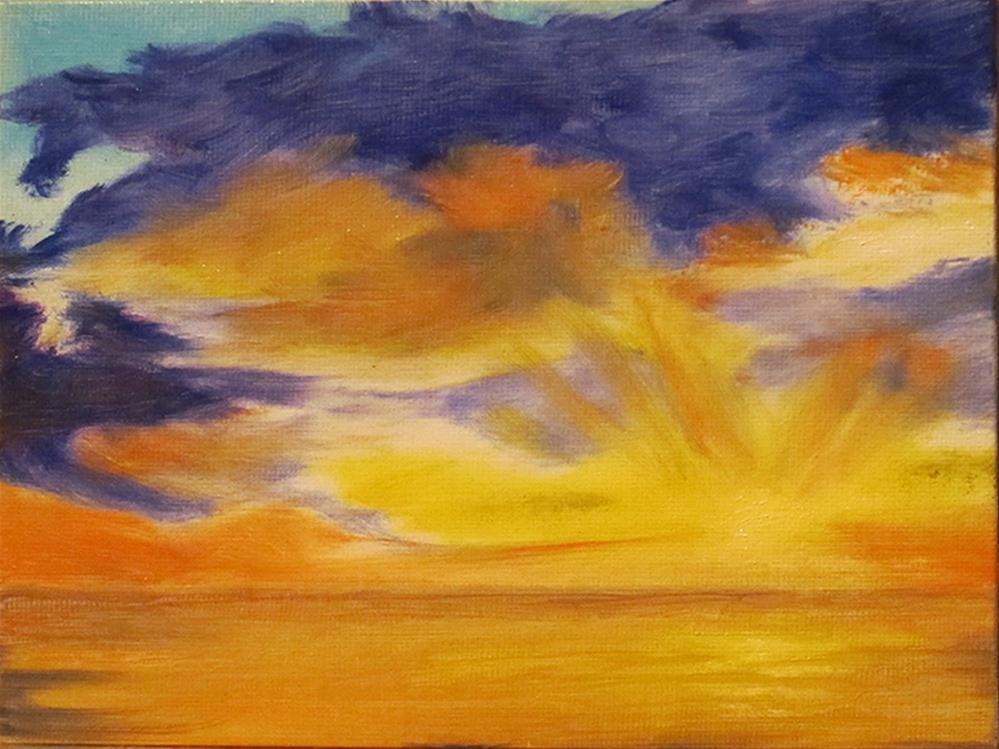 """Dragon  Sky"" original fine art by Mary Sylvia Hines"