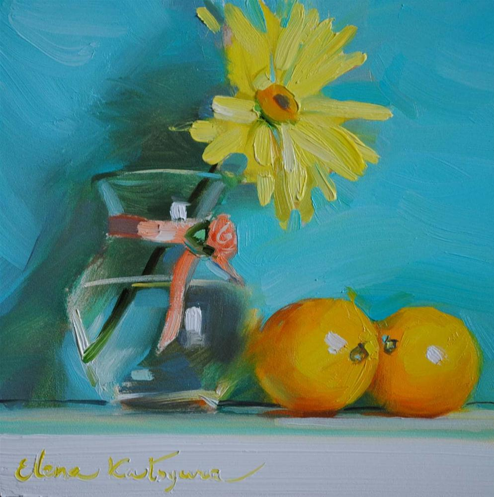 """Yellow Flower"" original fine art by Elena Katsyura"