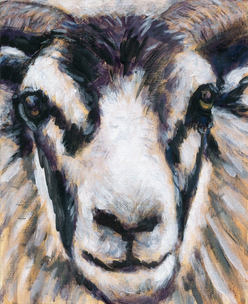 """That Sheepish Grin"" original fine art by Stanley Epperson"