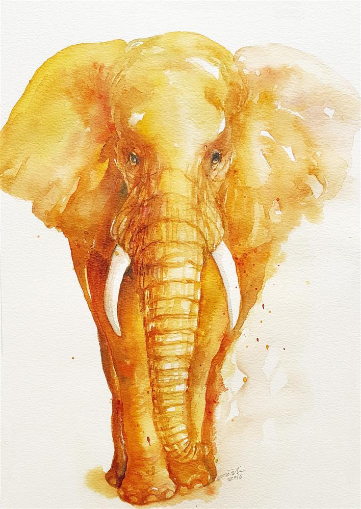 """""""Gold Knight"""" original fine art by Arti Chauhan"""