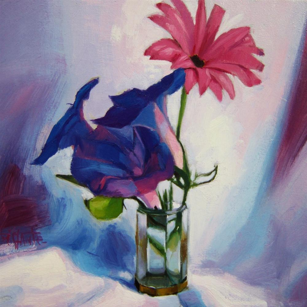 """Lilac flowers"" original fine art by Víctor Tristante"