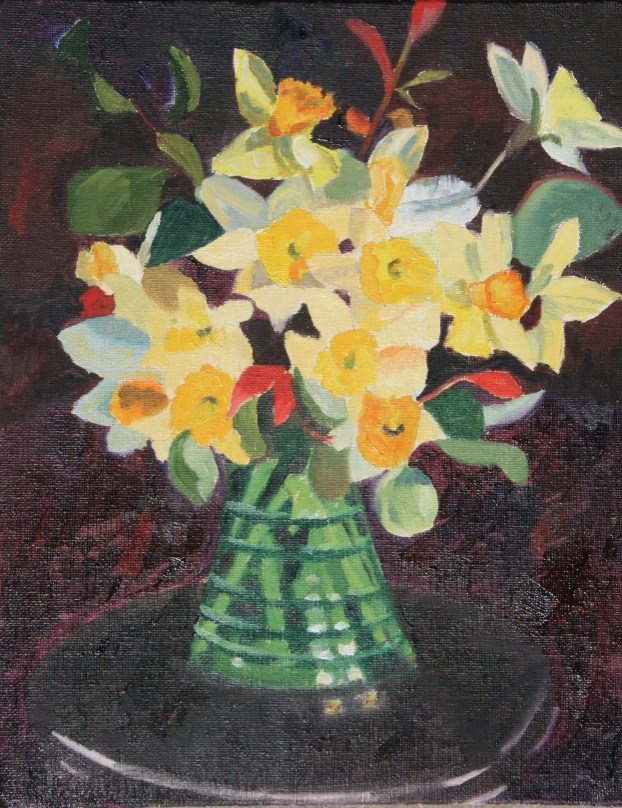"""Bouquet of Daffodils"" original fine art by Annie Dover"