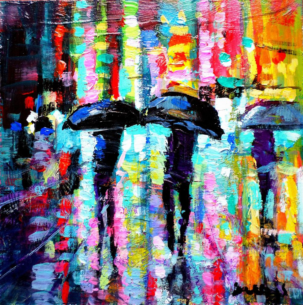 """""""Reflections in the newyork city"""" original fine art by salvatore greco"""