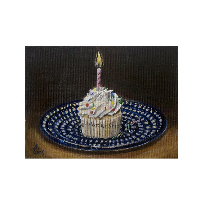 """Cupcake: Polish Pottery LXVIII"" original fine art by Heather Sims"