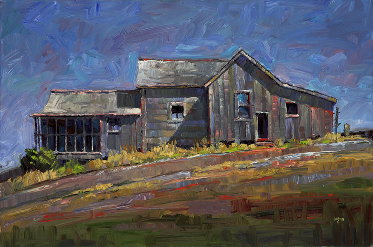 SLO Gray House (The Larger) original fine art by Raymond Logan
