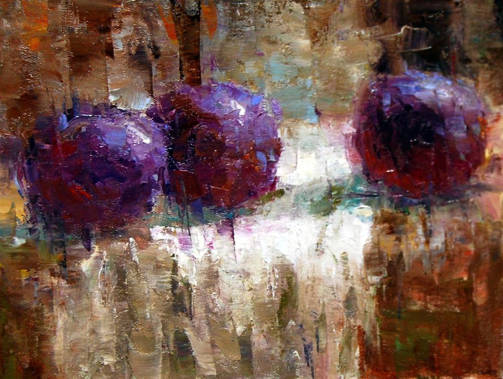"""Fracturing the Plums"" original fine art by Julie Ford Oliver"