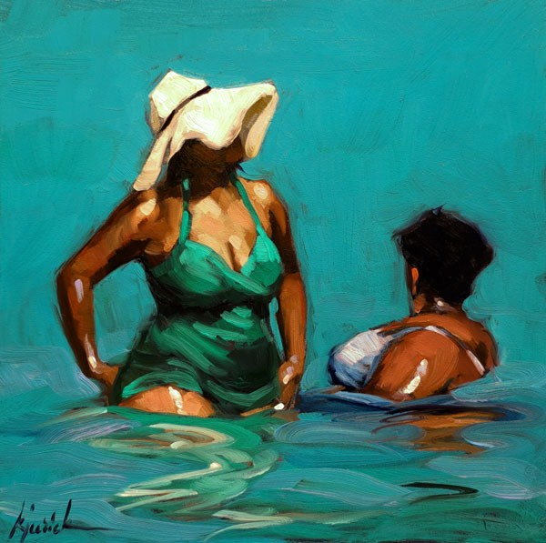 """Wet Ones"" original fine art by Karin Jurick"