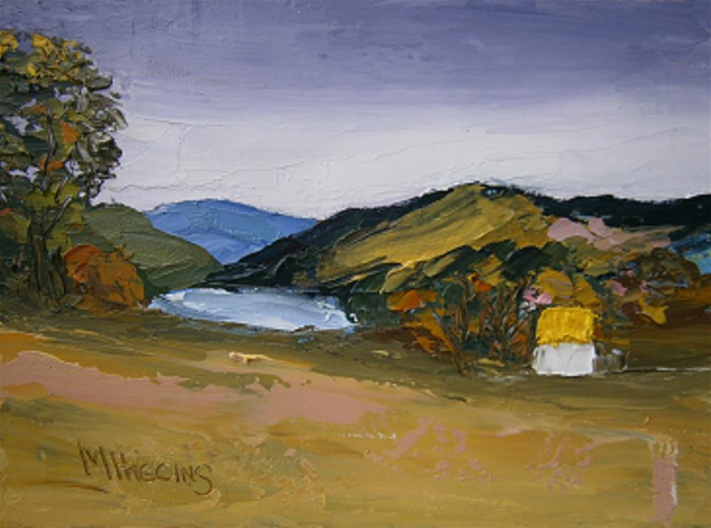 """HOMESTEAD – BY THE LAKE"" original fine art by Marie O' Higgins"