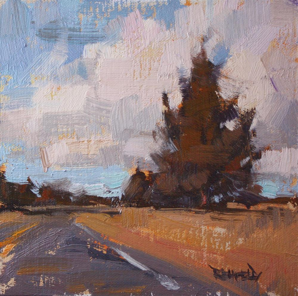 """High Desert Trees and Clouds on the Road to Terrebonne"" original fine art by Cathleen Rehfeld"