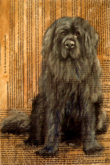 """Nana - Peter Pan (Dogs of Literature No 1)"" original fine art by Karen Robinson"